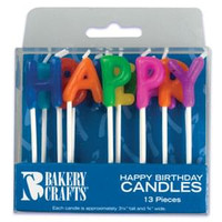 Happy Birthday Letter Candles 3 1/4""