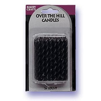 "2.5"" Spiral Candles Black"