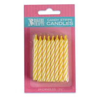 "2.5"" Candy Stripe Candle Yellow"