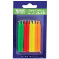 Neon Candles 2 1/4""