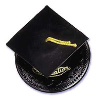 Black Graduation Hat Cake Topper