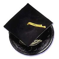 Black Graduation Hat Cake Topper
