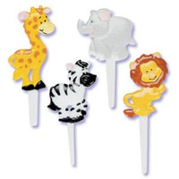 Zoo Safari Animals Puffy Cupcake Picks