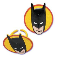 Batman Face Cupcake Rings