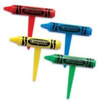 Crayola Crayon 3D Cupcake Picks