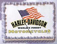 Harley Davidson World's Finest Motorcycles Edible Image®