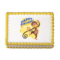 Monkey Birthday Edible Image®