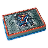 Superman Bustin' Thru Edible Image®