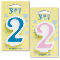 Blue Number 2 Candle
