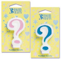 Blue Question Mark Candle