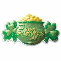St. Patrick's Day Pot O Gold Glitter Cake Poptop
