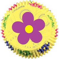 Dancing Daisy Flower Cupcake Liners