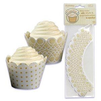 Scroll Cupcake Wrappers with Reversible Design