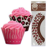 Safari Cupcake Wrappers with Reversible Design