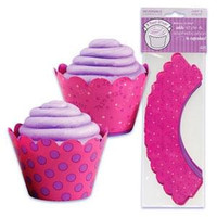 B Girl Cupcake Wrappers with Reversible Design