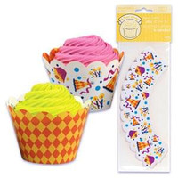 Party Cupcake Wrappers with Reversible Design