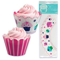 Sweets Cupcake Wrappers with Reversible Design