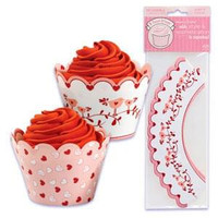 Valentine's Day Cupcake Wrappers with Reversible Design