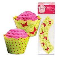 Spring Cupcake Wrappers with Reversible Design