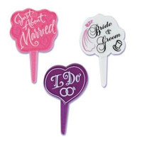 Wedding Shower Cupcake Picks 3 Styles