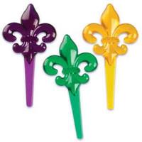 Mardi Gras Fleur De Lis Cupcake Picks