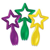 Mardi Gras Star Bio Spoon Cupcake Picks