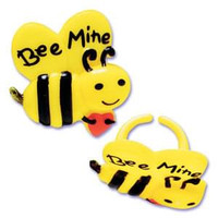 Valentine's Day Bee Mine Cupcake Rings