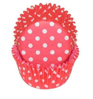 Standard Size Red with White Polka Dot Baking Cups
