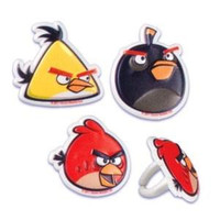 Angry Birds Cupcake Toppers/Rings