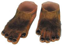 Werewolf Brown Hairy Feet Adult