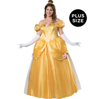 Yellow Fairytale Princess Elite -  Plus Costume