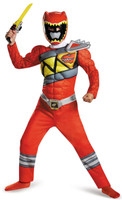 Power Rangers Dino Charge: Red Ranger Muscle Child Costume 2