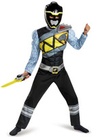 Power Rangers Dino Charge: Black Ranger Muscle Child Costume