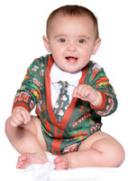 Ugly Christmas Cardigan Infant Romper