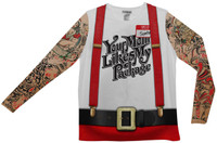 Christmas Tattoos & Suspenders Adult Shirt