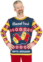 Mazel Tov Ugly Hanukkah Adult Sweater