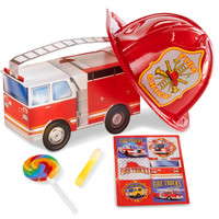 Little Fireman Filled Party Favor Box