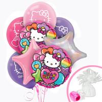 Hello Kitty Rainbow Balloon Bouquet