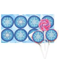 Snowflake Winter Wonderland Lollipop Favor Kit