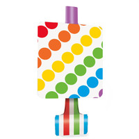 Rainbow Birthday Party Blowouts (8))