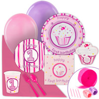 Girls Lil' Cupcake 1st Birthday Value Party Pack