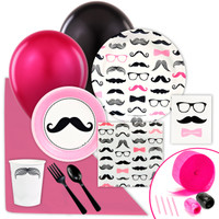 Pink Mustache Value Party Pack