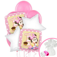 Minnie 1st Birthday Balloon Bouquet