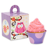 Owl Blossom Cupcake Wrapper & Box Kit