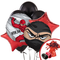 Ninja Warrior Party Balloon Bouquet