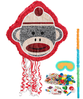 Sock Monkey Red Pinata Kit