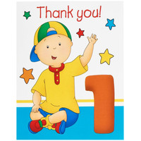Caillou 1st Birthday Thank-You Notes