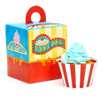 Carnival Games Cupcake Wrapper & Box Kit