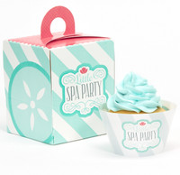 Little Spa Party Cupcake Wrapper & Box Kit