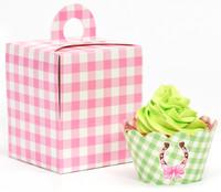 Pink Cowgirl Cupcake Wrapper & Box Kit